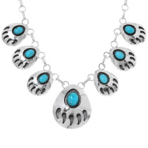Bear Paw Turquoise Necklace Set 25369
