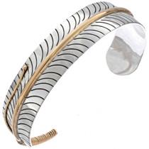 Gold Silver Feather Bracelet 23565