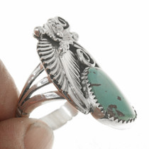 Ladies Turquoise Silver Pointer Style Ring 27124