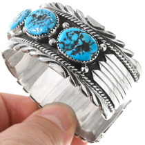 Natural Kingman Turquoise Cuff Bracelet 17622