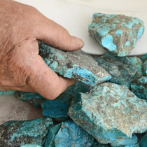 Large Arizona Turquoise Rough Nuggets 27024