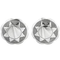 Navajo Silver Concho Post Earrings 20760