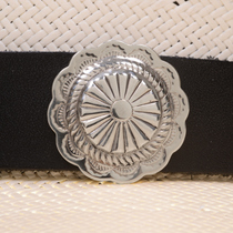 Concho Leather Hatband 24343