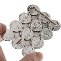 Authentic Coin Navajo Belt Buckle 23585
