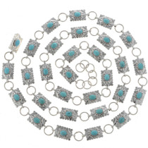 Turquoise Silver Link Concho Belt 24720