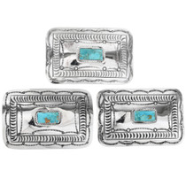 Navajo Made Turquoise Silver Buckle 11857