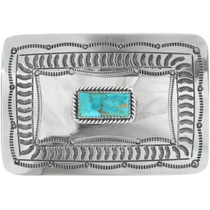 Genuine Turquoise Belt Buckle 11857