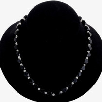 Faceted Black Onyx Ladies Beaded Necklace 24264