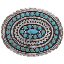 Natural Kingman Turquoise Belt Buckle 28231
