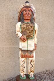 Three Foot Tall Indian Wood Sculpture 33974