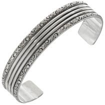 Navajo Hand Hammered Silver Cuff 23132