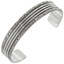Navajo Hand Hammered Silver Cuff 23132