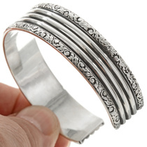 Native American Made Sterling Bracelet 23132