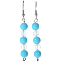 Navajo Turquoise Line Dangle Earrings 14466