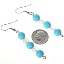 Turquoise Southwest French Hooks Earrings 14466