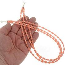 Three Strand Navajo Coral Necklace 26876