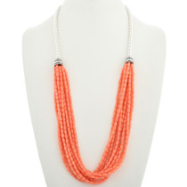Navajo Coral Multi Strand Necklace 23457