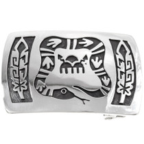 Silver Serpent Belt Buckle 25874
