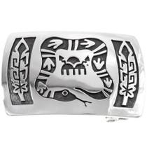 Silver Serpent Belt Buckle 25874