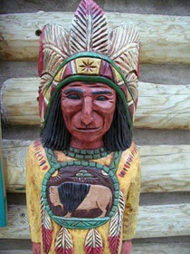 Four Foot Tall Cigar Store Indian 33998