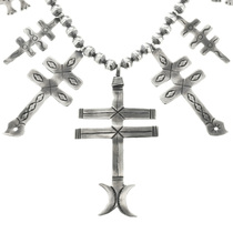 Sterling Navajo Cross Necklace 25743