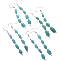 Natural Turquoise Nugget Earrings 28267