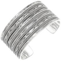 Navajo All Sterling Cuff Bracelet 23669