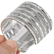 Twist Wire Southwest Silver Wide Bracelet 23669
