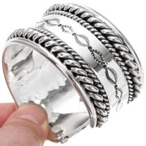 Hand Hammered Silver Cuff 24304