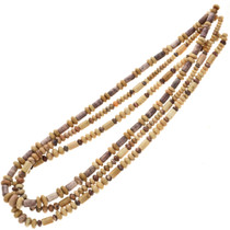 5mm to 7mm Picture Jasper Tube and Rondel Beads 16 inch Long Strand