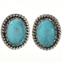 Native American Turquoise Silver Earrings 22381