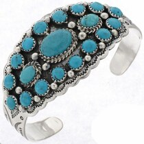 Turquoise Cluster Bracelet 25609