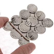 Real Coins Navajo Belt Buckle 23583