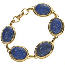 Denim Lapis Gold Tennis Bracelet 28880
