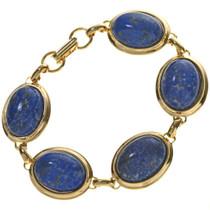 Denim Lapis Gold Tennis Bracelet 28880