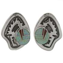 Inlaid Opal Southwest Earrings 26774