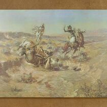 "Open edition ""The Broken Rope"" Canvas Print by Charles Russell"