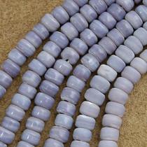 9mm Lavender Glass Trade Beads 22 inch Strand