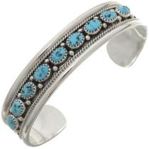 Kingman Turquoise Silver Cuff 27071