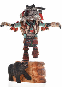 Hopi White Bear Kachina Doll 23529