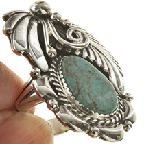 Native Turquoise Silver Ladies Ring 23703