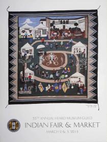 Heard Museum Navajo Rug Art Poster 2013