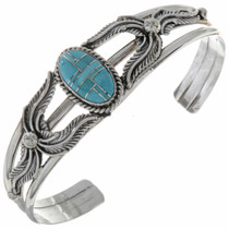 Inlaid Sleeping Beauty Turquoise Bracelet 14594