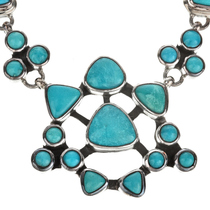 Turquoise Silver Handmade Necklace 11514