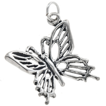 Sterling Silver Butterfly Charm 35449