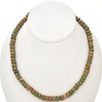 Unakite Rondelle Beads 3698