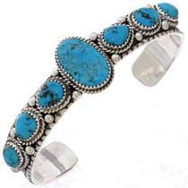 Turquoise Silver Navajo Bracelet 25538