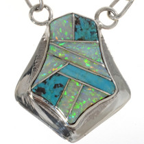 Inlaid Turquoise Opal Necklace 15181