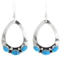 Navajo Open Silver Teardrop Earrings 26829