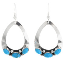 Navajo Open Silver Teardrop Earrings 26829